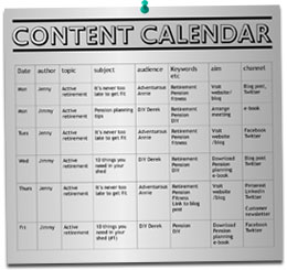 Content Strategy Calendar